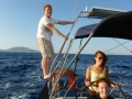 Sailing in Greek island