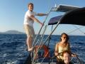Sailing in Greek island