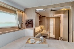 bedroom of the boat