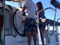 family sailing Greece