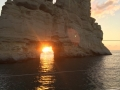 Greek island catamaran sailing