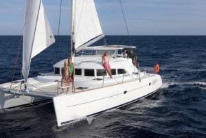 Lagoon38 sailing the ionion
